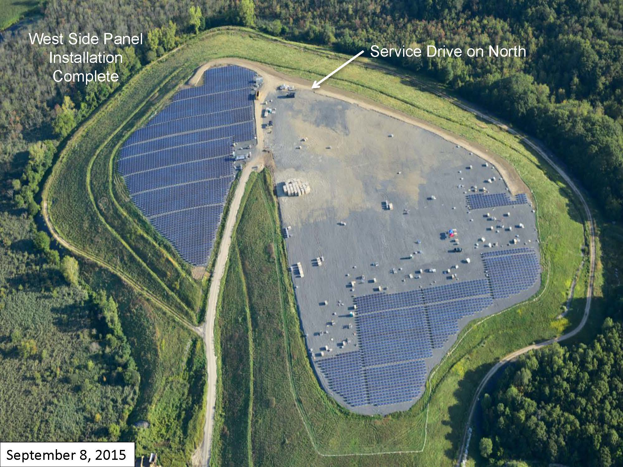 Page 8 of the Green Needham Presentation of the Solar 1 Landfill Project